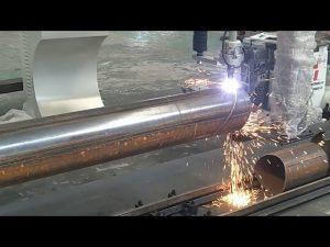 CNC 3 축 플라즈마 화염 파이프 로타리 튜브 철강 절단기